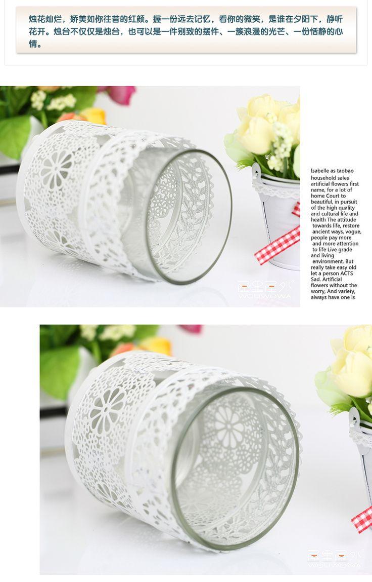 Утюг в средиземноморском стиле Маленькие белые свечи подсвечники свечи чашка свадебные романтические европейском стиле из стекла подсвечники - Taobao
