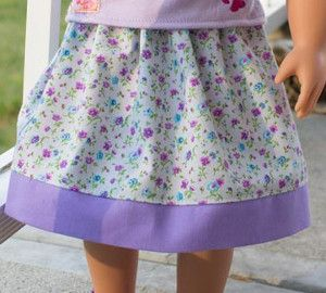 American Girl Doll clothing is so expensive, but you can use free 18 inch doll clothes patterns like this Free Skirt Pattern for Dolls to get new doll clothes without spending a fortune. This easy pattern will help you make an adorable, flowy skirt for your little girl's doll.