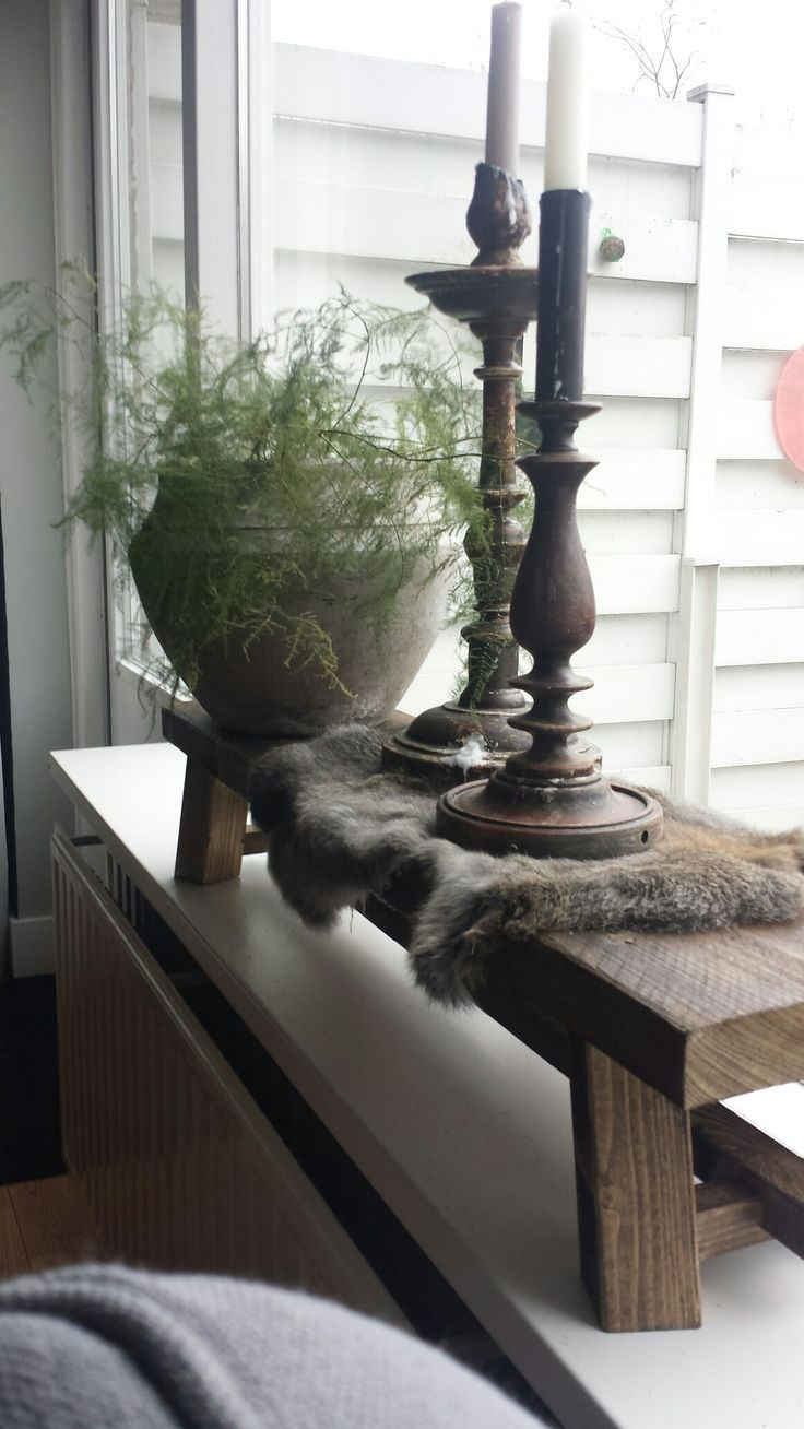 Gross Window Sill With Candlesticks Paper Jug And Asparagus Cora Meijering Margret Do Rustic Charm Decor Candle Holders Wall Decor Candle Wall Decor