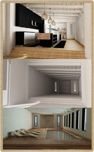 Anteprima 3d per un architetto milanese. Studio sulla disposizione e utilità di una stanza con soppalco rialzato. L'architetto doveva proporre ai propri clienti 2 soluzioni per la medesima area. Realizzato da P.Y.G. italy