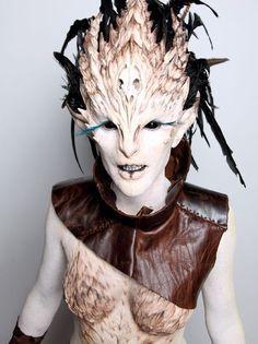 halloween scary female face prosthetics - Google Search