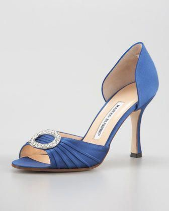 blue manolo blahnik sex and the city flats in Indianapolis