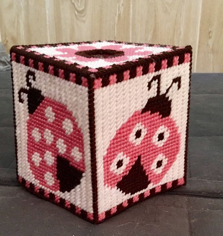A personal favorite from my Etsy shop https://www.etsy.com/listing/522050652/ladybug-tissue-box-cover