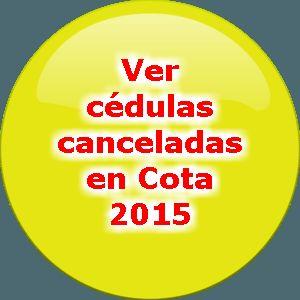 ¿Qué ciudadanos fueron promotores de la cancelación de cédulas en Cota?