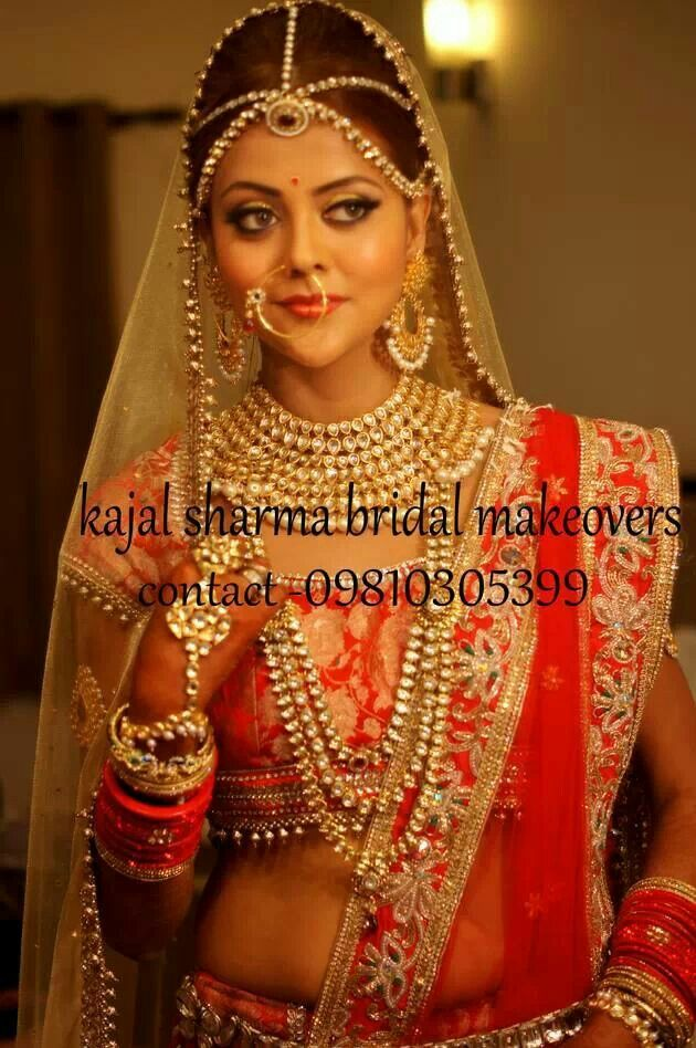 Royal indian bridal look by kajal sharma...