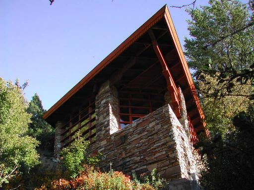 Teaters Knoll, Archie and Patricia Teater Residence. Frank Lloyd Wright. Usonian Style.1952. Above the Snake River in Bliss, Idaho
