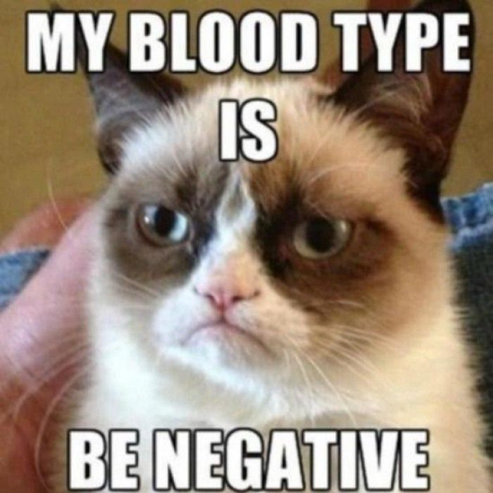 My blood type is