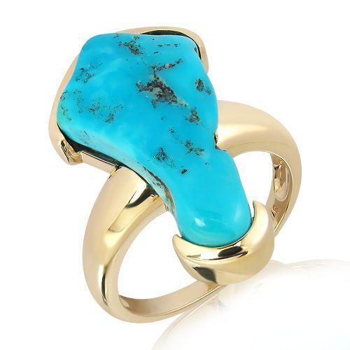 Arizona Turquoise Ring in Gold