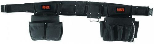 Klein Tools Black Nylon Electrician's Tool Belt Contractor Bag Pouch Storage New #KleinTools