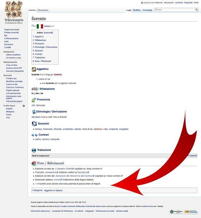 I Furente Parrucchieri Siamo stati menzionati anche sul Wikizionario di Wikipedia Assolutamente NO....non è una bufala e se non credete alle nostre parole potete tranquillamente verificare voi stessi cercando la parola Furente  su Google o andare direttamente al link qui sotto: http://ift.tt/1qX95vg #furente #google #wiki #wikizionario #wiktionary #wikipedia #nota #azienda #parrucchieri #napoli #italia #dizionario #vocabolario #italiano #aggettivo #sostantivo #sinonimo…