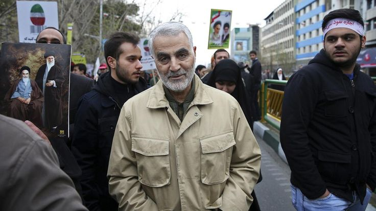 A Kurdish source said on Sunday that the leader of the Iranian Revolutionary Guards, Qasem Soleimani
