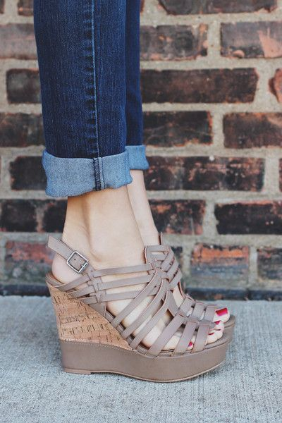 Strappy Woven Leather Platform Wedge Kelsey-20A – UOIOnline.com: Women's Clothing Boutique