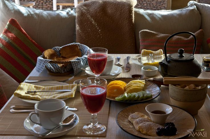 Breakfast at Awasi Atacama. The best way to start the day on your luxury vacation in Chile.