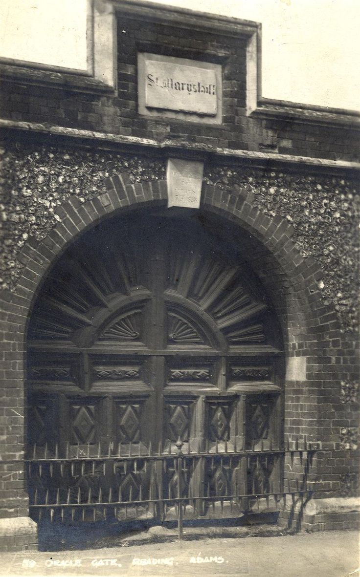 The Gates of the Oracle Workhouse, Reading by Walton Adams