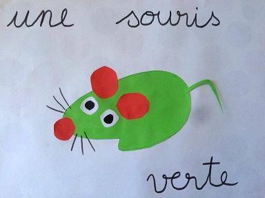 un tuto en images pour réaliser une souris verte avec une empreinte de main…                                                                                                                                                                                 Plus