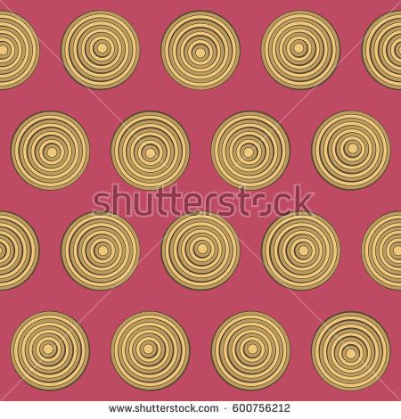 Retro background with yellow and gold circles on magenta #vectorpattern #patterndesign #seamlesspattern