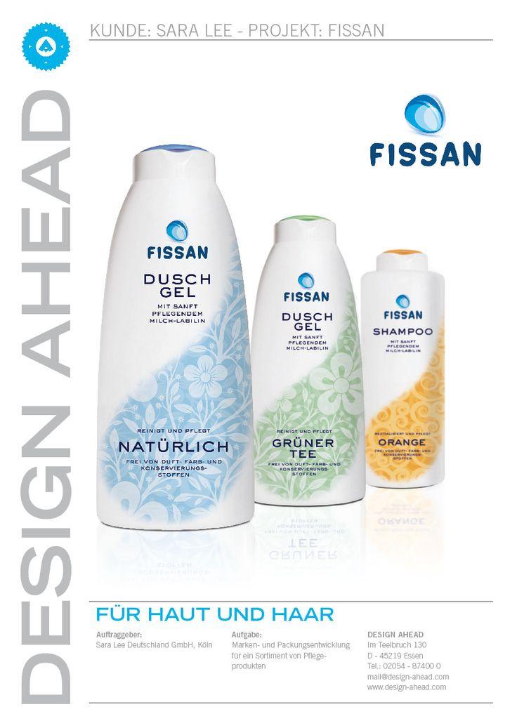 """Packaging Design """"Fissan"""" Duschgel/Shampoo"""