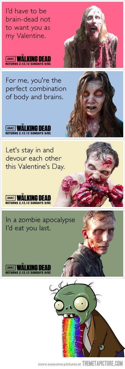 21 best images about My Walking Dead Obsession – Zombie Valentines Cards