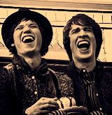 RYAN AND BRENDON LAUGHING. MY OVARIES JUST EXPLODED!!!!!! ♥♥ gif