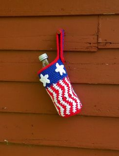 Uncle Sam Bottle Cozy (Patriotic 4th of July)