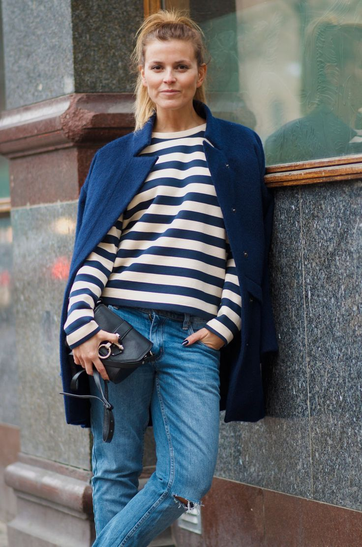 Style...Janka Polliani // denim and stripes casual Scandinavian style