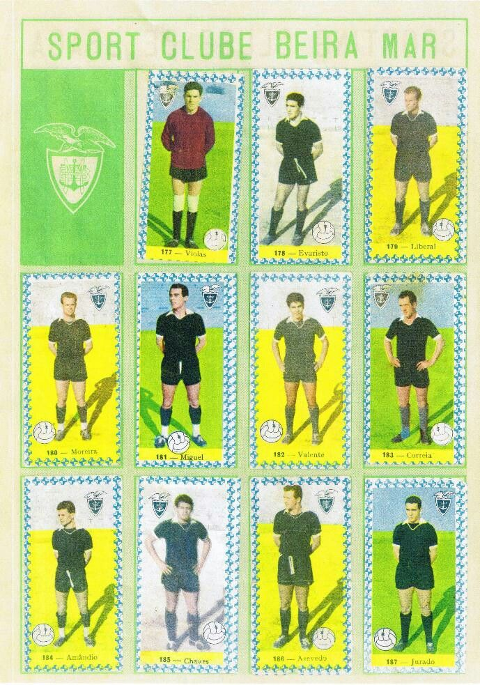 SC Beira Mar of Portugal. Team stickers in the 1960s.