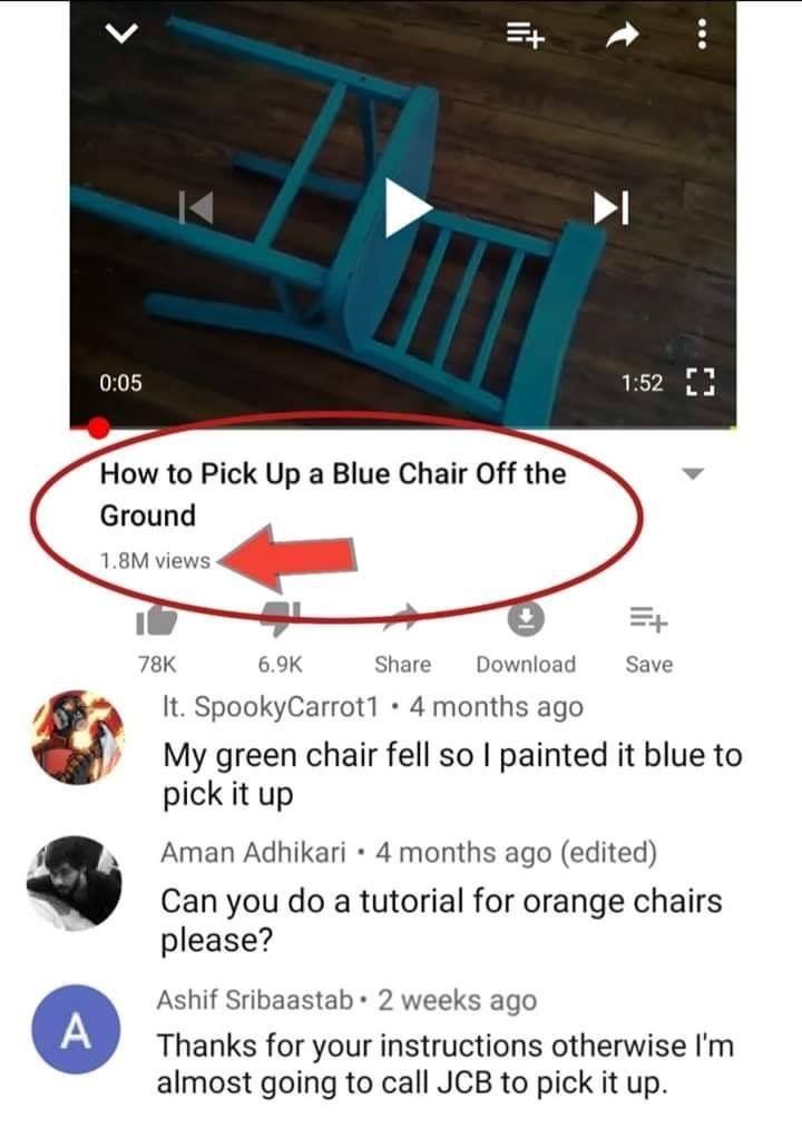 Blue Chair Follow Finestfam On Pinterest For More Funny Memes Memes Lol