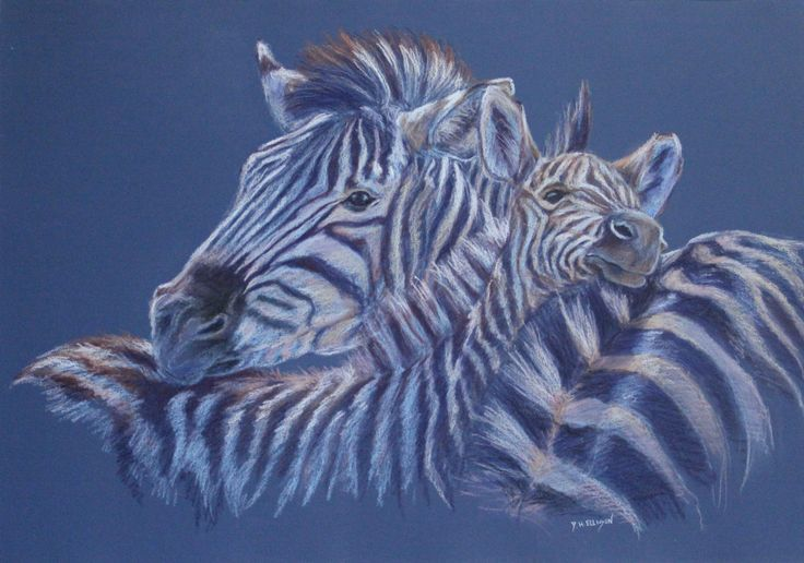 Stripes and Co. (Pastel) by Denise Ellison - inspired by a friends trip to Africa some of the many animals they saw there