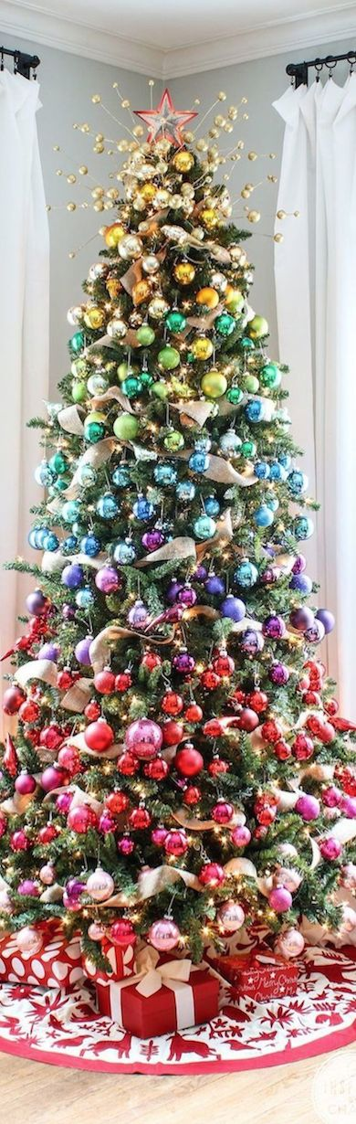 Gradient Christmas Tree| LOLO ~ I love how colourful this tree is!     ᘡղbᘠ