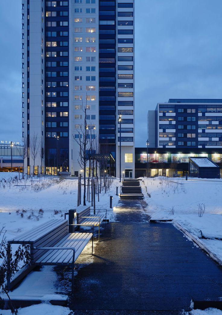 /Tyresö city park/ lighting design by Black ljusdesign - Park lighting - Lighting design - Public spaces - Bollards