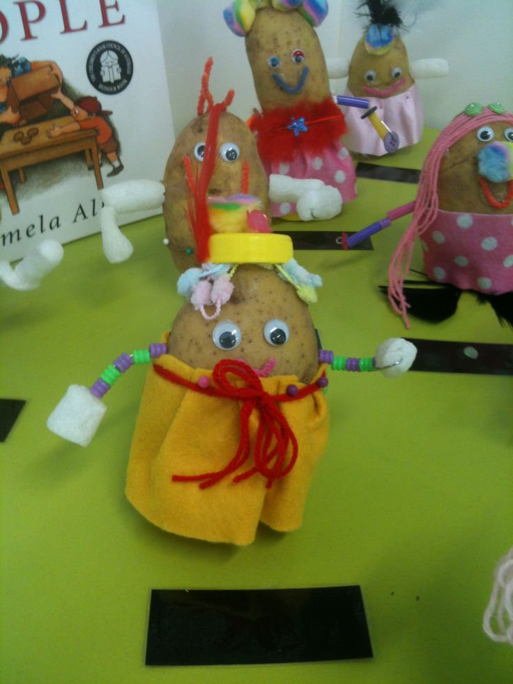 We read Potato People by Pamela Allen and then the children designed and made their own potato people. I am always amazed at their creativity.