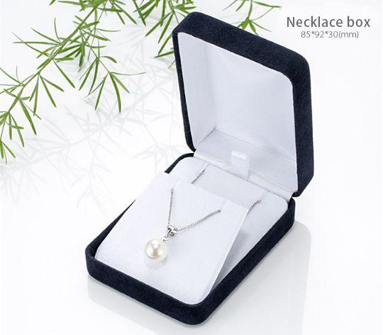 Necklace Gift Black Velvet Jewelry Gift Boxes Wholesale Logoblack