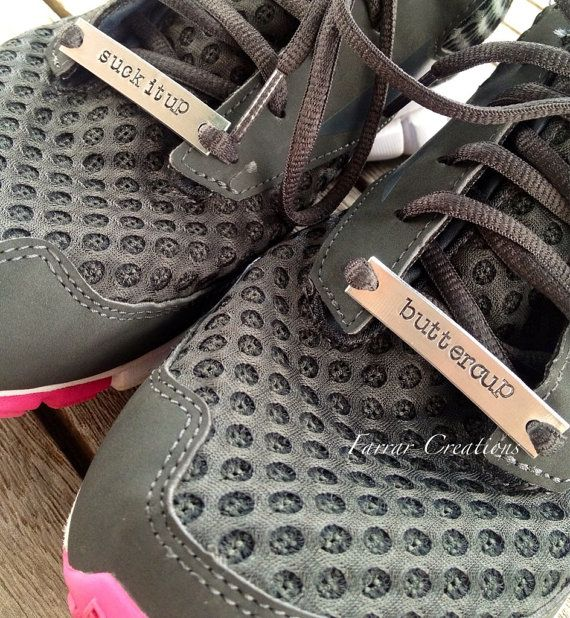 "Runners Shoe Tags Shoe ID Tags Motivation by FarrarCreations, $20.00// Is ""need"" too strong of a word? No. I NEED these customizable shoe tags."