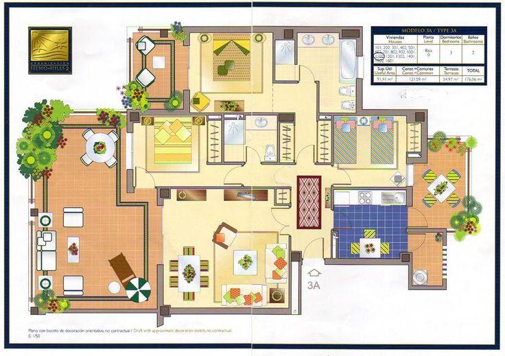 Dise o de terrazas plano buscar con google planos for Planos google