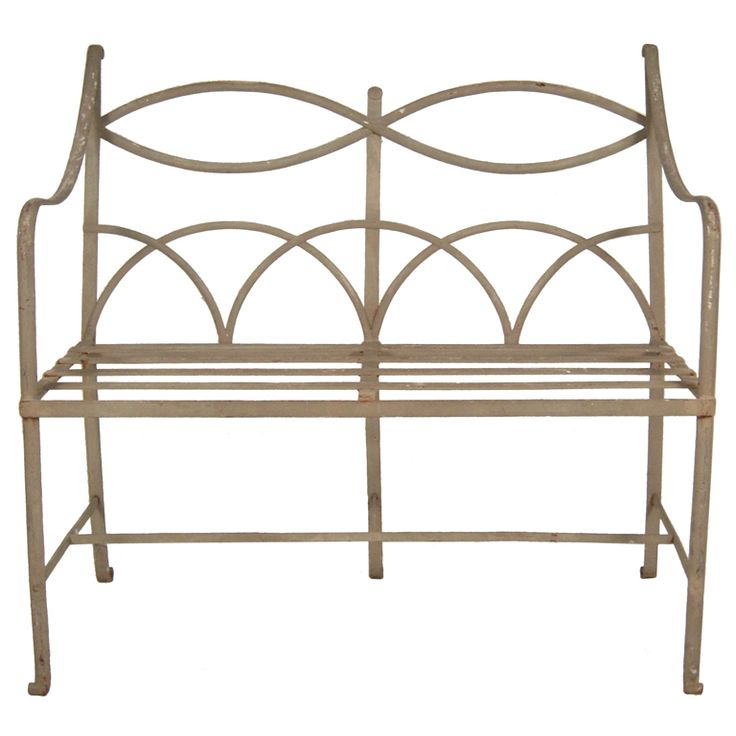 Regency Style Wrought Iron Garden Bench Gardens
