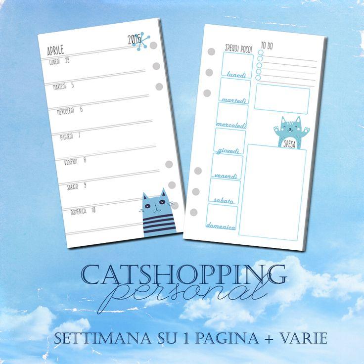 Nome: Catshopping Dimensione: Personal Tipologia: Settimana su 1 Pagine + Facciata ri spese e note Note: Struttura più rigida e con molti particolari.