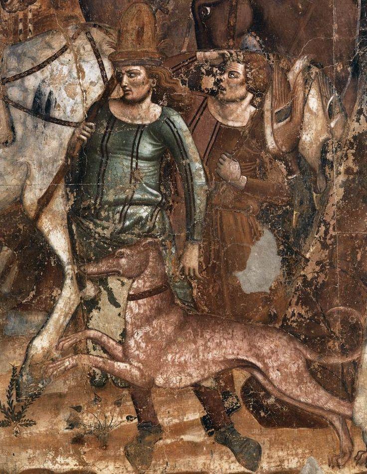 Buonamico di Buffalmacco (1315-1336) was een Italiaanse schilder. Hoewel geen van zijn bekende werken het heeft overleefd, wordt hij alom beschouwd als invloedrijke (fresco) schilder.  met de The Three Dead en de Drie Living, de Triumph van Dood, het Laatste Oordeel, de Hel. detail de Triomph van Dood