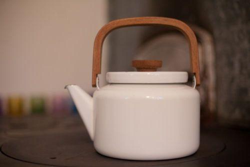 Vintage ██ Arabia Finland ██ Heikki Orvola ██ Brown Enamel Teapot Finel ORIGINAL