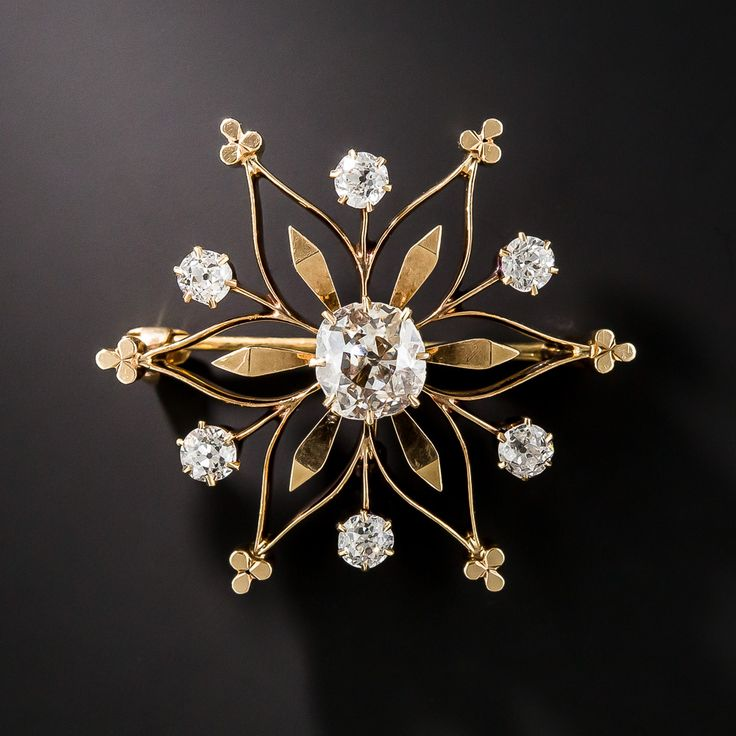 Victorian Diamond Snowflake Pin and Pendant - 50-1-2337 - Lang Antiques