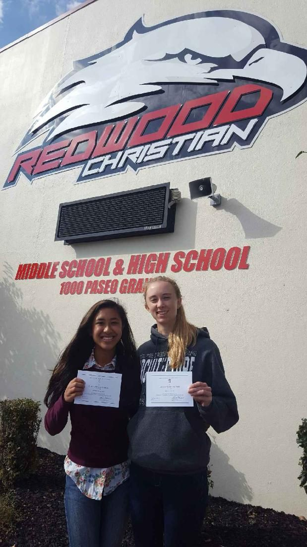 Annie N coon, 12th  Haley D Martinez, 12th Have Been Named Commend Students in the 2017 National Merit Scholarship Program!  Congratulations! #awards #bestprivateschools #chrisitanschools #bayarea