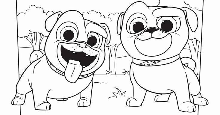 Disney Junior Coloring Pages Luxury Bingo and Rolly ...