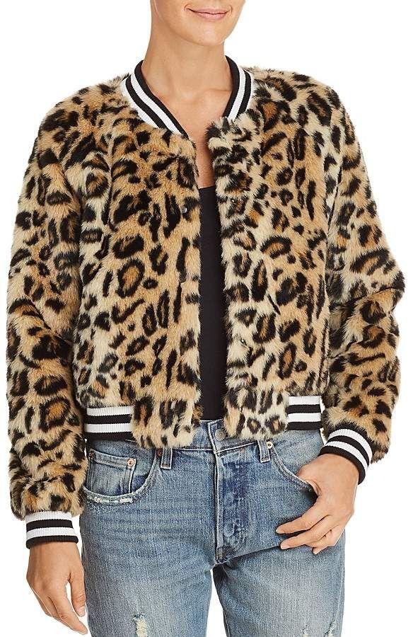 54f595459caa BB Dakota Clever Girl Leopard Print Faux Fur Bomber Jacket | leopard ...