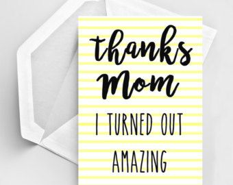 """Items similar to Funny Mother's Day Card/ Awesome Mom Card/ Amazing Mom Card / Super Mom/  """"Hey Mom You're Awesome""""/ Matchbox/ Gift box / Message box on Etsy"""