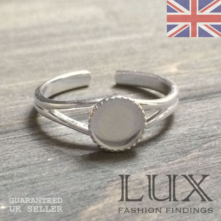 Sterling Silver 925 Milled Edge Collet Ring For 7mm Stone Uk Jewellery Er