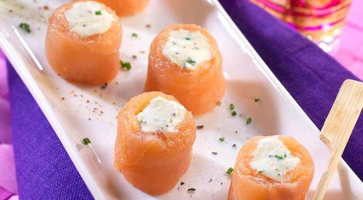 Roulés de saumon au cœur de Kiri® #yummi #food