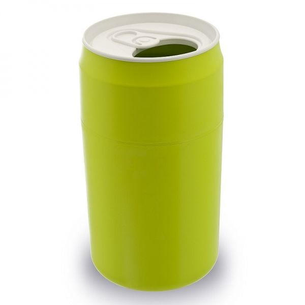 Mülleimer Getränke-Dose / Capsule Can grün - Qualy Design #wastebin #dustbin #trash #garbage #waste #bin #beverage #can