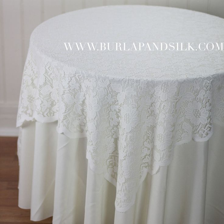 54 X 54 Inches Square Lace Tablecloth Ivory. Table OverlaysLace ...