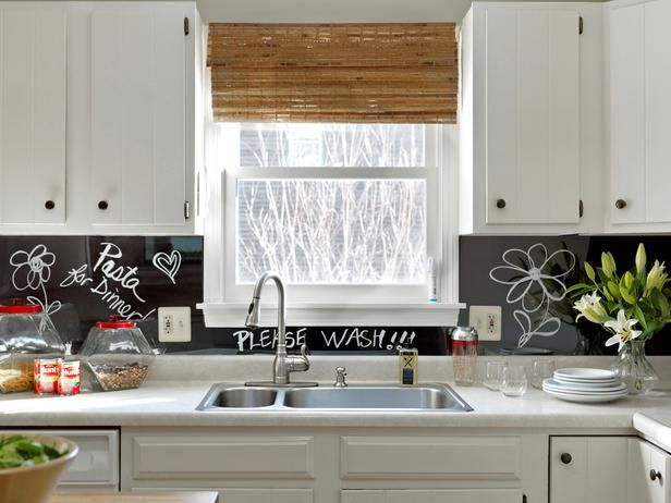 How to Turn a Kitchen Backsplash into a Message Board:  From DIYNetwork.com from DIYnetwork.com
