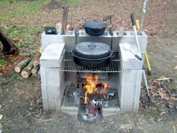 Photo: Outdoor fireplace or DIY bbq - outdoor cooking made easy. See more at Cool Products  Ideas
