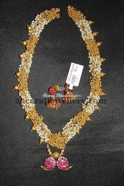 Jewellery Designs: Antique Gajra Mala